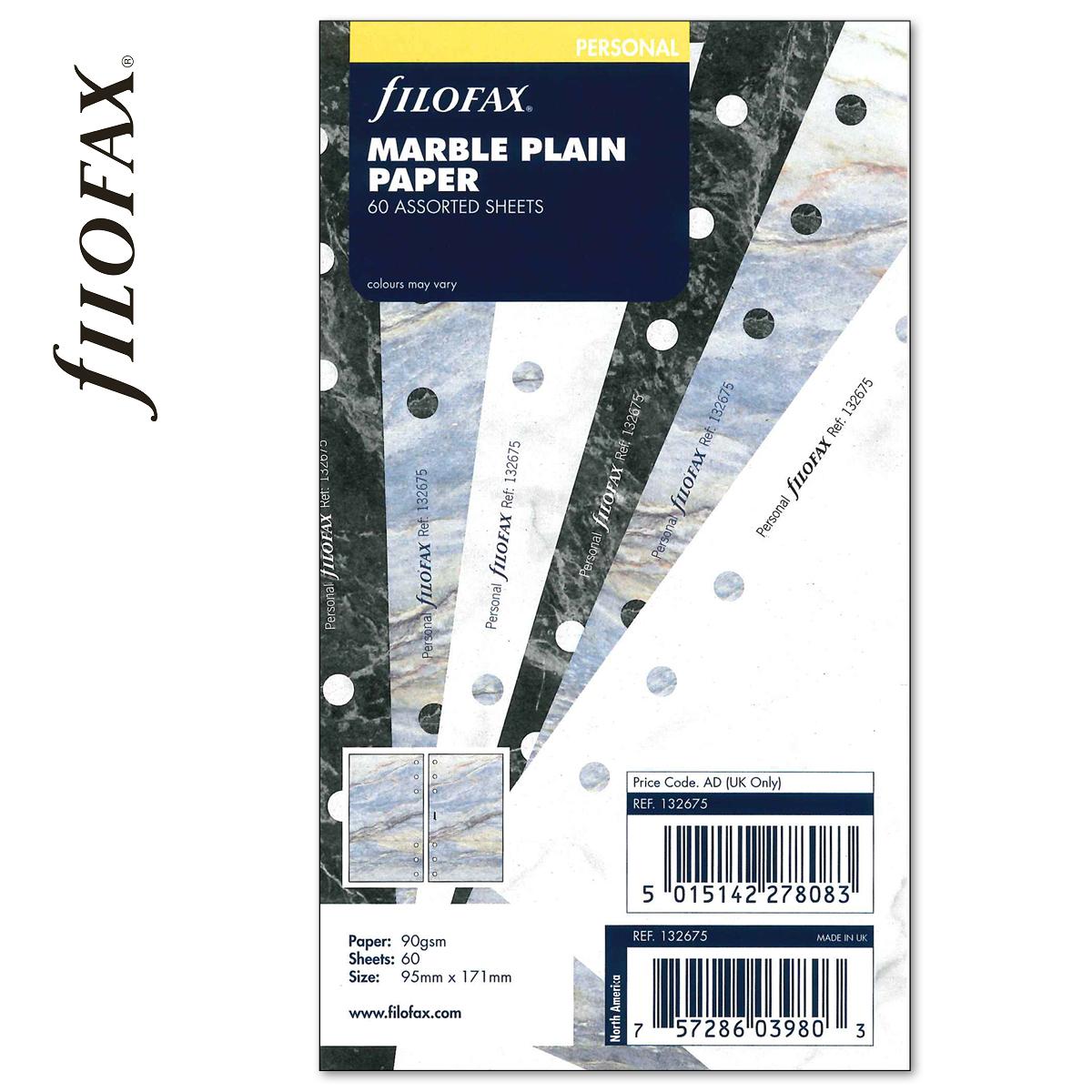 481f237315e9 Filofax Jegyzetlapok Üres Personal Márvány -